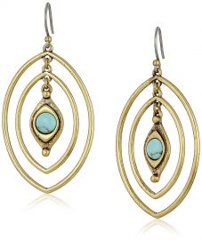 Lucky Brand Turquoise Double Oval Earrings at Amazon