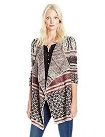 Lucky Brand Women s Mixed Striped Cardigan at Amazon