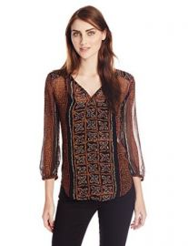 Lucky Brand Womenand39s Kaylee Peasant Top at Amazon