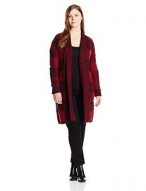 Lucky Brand Womenand39s Plus-Size Checked Boucle Sweater at Amazon