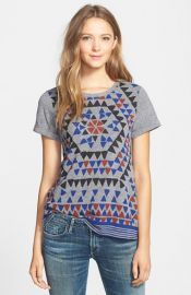 Lucky Brand and39Geo Fireworkand39 Print Tee at Nordstrom