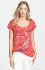 Lucky Brand and39Golden Luckand39 Scoop Neck Tee at Nordstrom