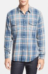Lucky Brand and39Gromand39 Plaid Western Shirt at Nordstrom