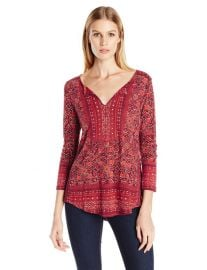 Lucky Brand block floral top at Amazon