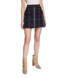Lucy Check Mini Skirt at Neiman Marcus