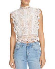 Lucy Paris Abigail Lace Cropped Top - 100  Exclusive  Women - Bloomingdale s at Bloomingdales