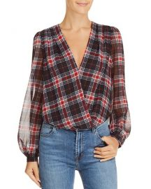 Lucy Paris Plaid Blouson Bodysuit at Bloomingdales