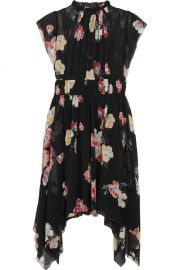 Luisa Floral Print Silk-Georgette Dress at Net A Porter