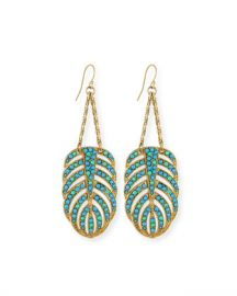 Lulu Frost Hibiscus Dangle Earrings at Neiman Marcus