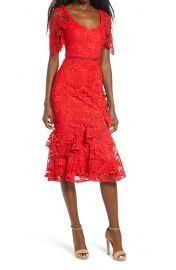 Lulus Briarwood Ruffle Lace Cocktail Dress   Nordstrom at Nordstrom