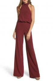 Lulus Moment for Life Halter Jumpsuit at Nordstrom