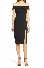 Lulus Poppin Bubbly Off the Shoulder Body-Con Dress   Nordstrom at Nordstrom