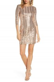 Lulus Stardust Sequin Body-Con Minidress   Nordstrom at Nordstrom