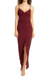 Lulus Sweetest Admirer Ruched Gown   Nordstrom at Nordstrom