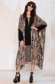 Lumiere Silk Kimono at Nasty Gal