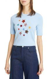 Lunar Star Appliqué Short Sleeve Sweater at Nordstrom Rack