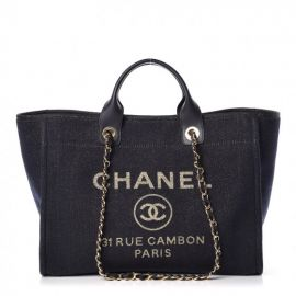 Lurex Canvas Large Deauville Tote at Fashionphile