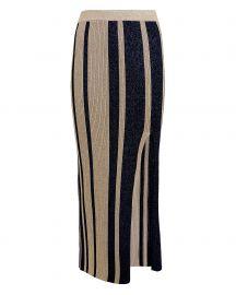 Lurex Striped Knit Skirt by Self Portrait at Intermix