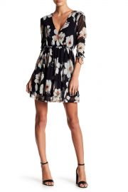 Lush   Floral Mesh Mini Dress   Nordstrom Rack at Nordstrom Rack