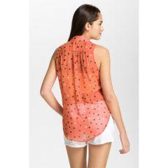 Lush sleeveless chiffon blouse at Nordstrom