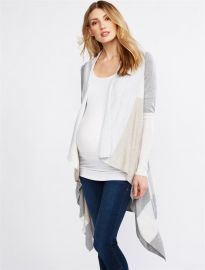 Luxe Essentials Colorblock Maternity Cardigan at A Pea in the Pod