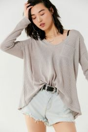 Lyla Thermal Long Sleeve Top at Urban Outfitters