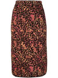 M Missoni Leopard Print Pencil Skirt - Farfetch at Farfetch
