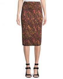 M Missoni Metallic Animal-Print Pencil Skirt at Neiman Marcus