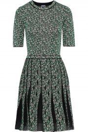 M Missoni Pleated jacquard-knit mini dress at The Outnet