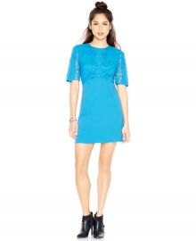 MADE Fashion Week Elbow-Sleeves Lace-Overlay Dress at Macys