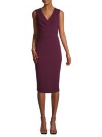 MAGGY LONDON - V-NECK SHEATH DRESS at Saks Off 5th