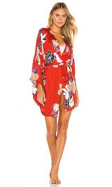MAISON DU SOIR Tokyo Robe in Red Floral from Revolve com at Revolve