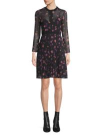MAJE - PRINTED PLEATED DRESS at Saks Fifth Avenue