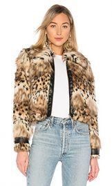 MAJORELLE Kaelyn Coat in Snow Leopard from Revolve com at Revolve