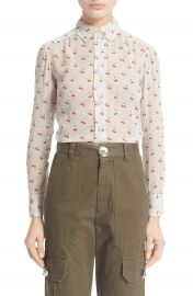 MARC BY MARC JACOBS Cherry  amp  Pindot Print Cotton Voile Top   Nordstrom at Nordstrom