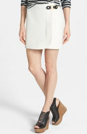MARC BY MARC JACOBS Eva Hardware Detail Stretch Miniskirt at Nordstrom