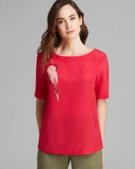 MARC BY MARC JACOBS Top - Capella Bird Silk at Bloomingdales