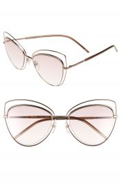 MARC JACOBS 56mm Cat Eye Sunglasses Gold copper at Nordstrom