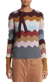MARC JACOBS Intarsia Chevron Cashmere Sweater at Nordstrom