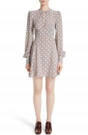 MARC JACOBS Polka Dot Silk Cr  pe de Chine Dress at Nordstrom