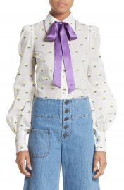 MARC JACOBS Rose Fil Coup   Bishop Sleeve Blouse at Nordstrom