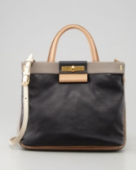 MARC by Marc Jacobs East End Madame Hilli Colorblock Bag Black at Neiman Marcus