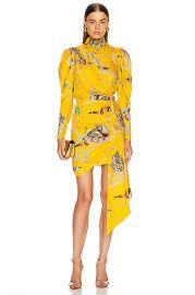 MARIANNA SENCHINA Leopard Print Mini Dress in Yellow   FWRD at Forward