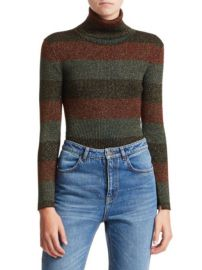 MARIEL STRIPE TURTLENECK SWEATER alc at Saks Fifth Avenue