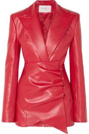 MAT  RIEL - Belted faux leather blazer at Net A Porter