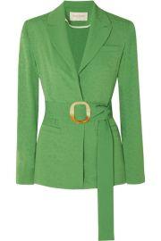 MAT  RIEL - Belted jacquard blazer at Net A Porter