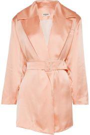 MAT  RIEL - Belted silk-satin blazer at Net A Porter