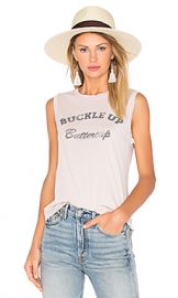 MATE the Label Buckle Up Buttercup Tank in Dusty Pink from Revolve com at Revolve
