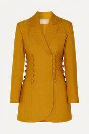 MATERIEL - Button-detailed twill blazer at Net A Porter
