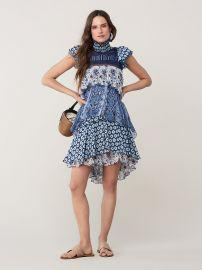 MATILDA SILK-CHIFFON RUFFLE DRESS at DvF